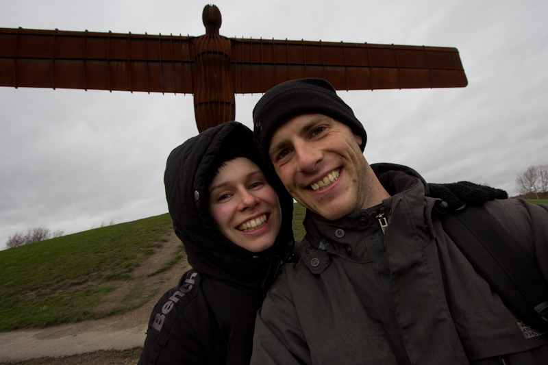 UK trip - January 2012: The Angel of the North.