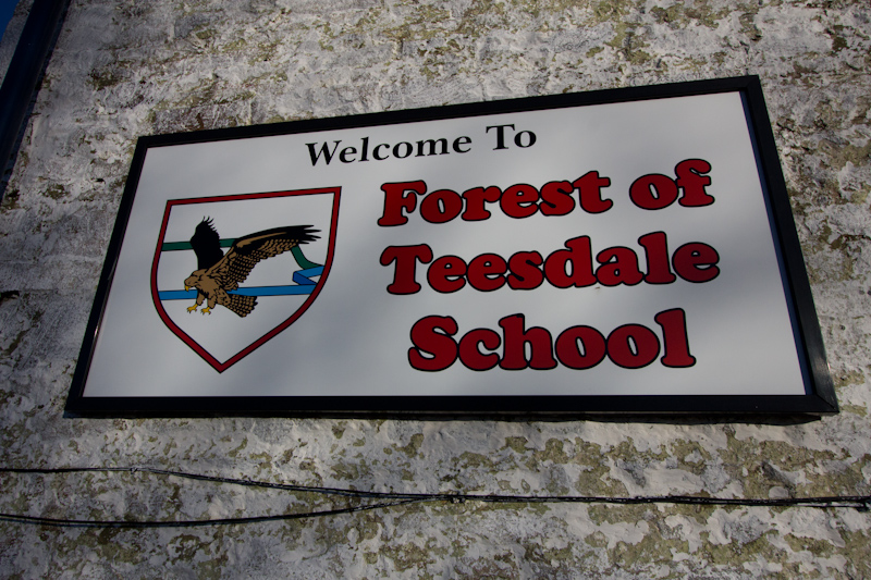 UK trip - January 2012: Forest of Teesdale School.