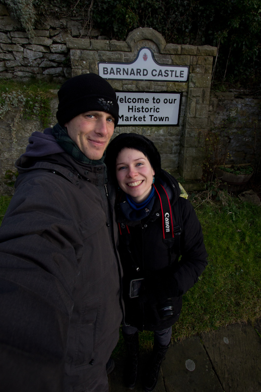 UK trip - January 2012: In Barnard Castle, a historic market town.
