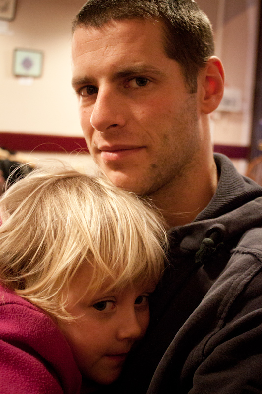 UK trip - January 2012: Uncle and niece.