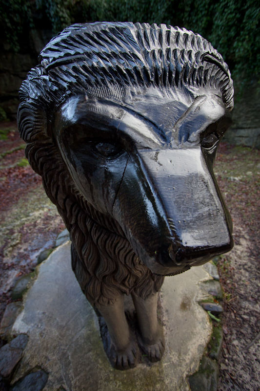 UK trip - January 2012: Statue at How Steen Gorge.