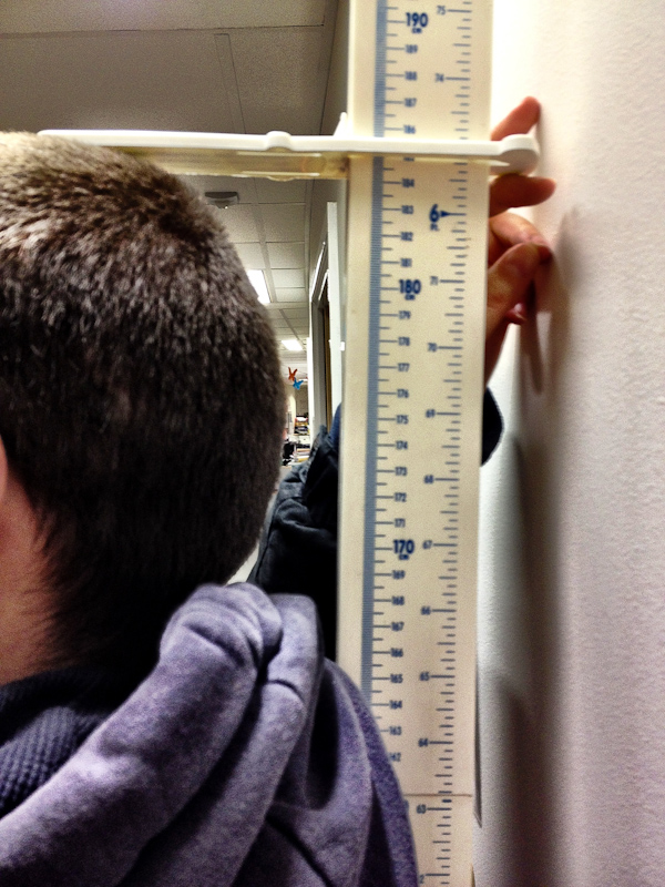 UK trip - January 2012: While in the hospital I checked my height. Turns out I'm 185cm tall. Or 6' 1