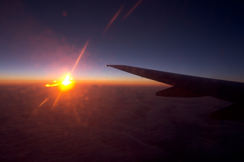 UK trip - January 2012: Flying home.