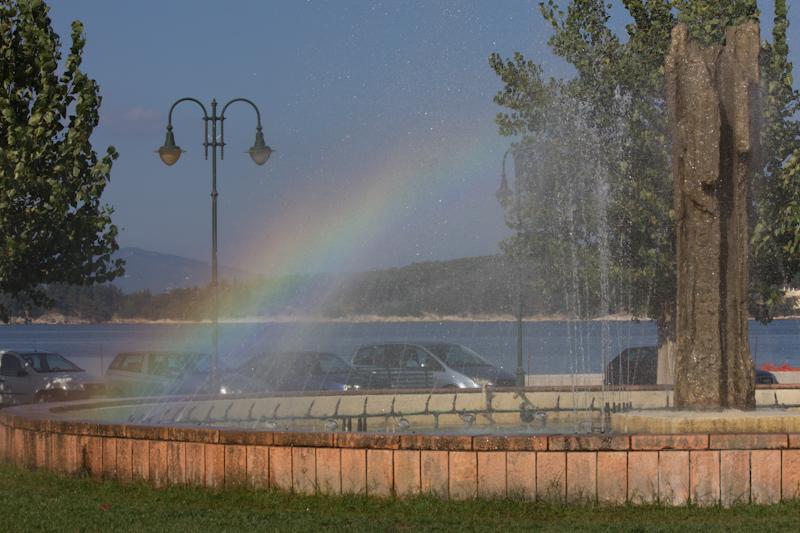 Corfu: Fountain rainbow.