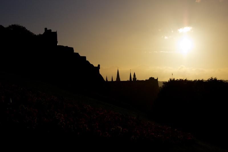 Edinburgh: Sunset over Edinburgh.