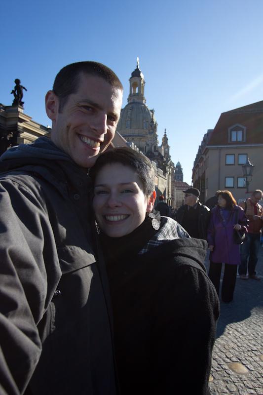 Dresden: Tourists in Dresden.