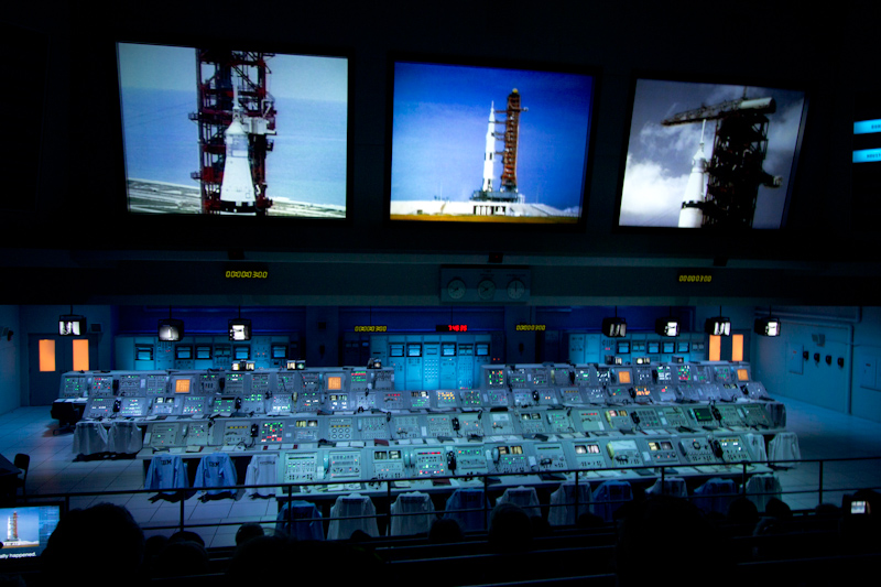 Kennedy Space Center: The real Apollo space launch command center, now transplanted to the Saturn V visitor center.