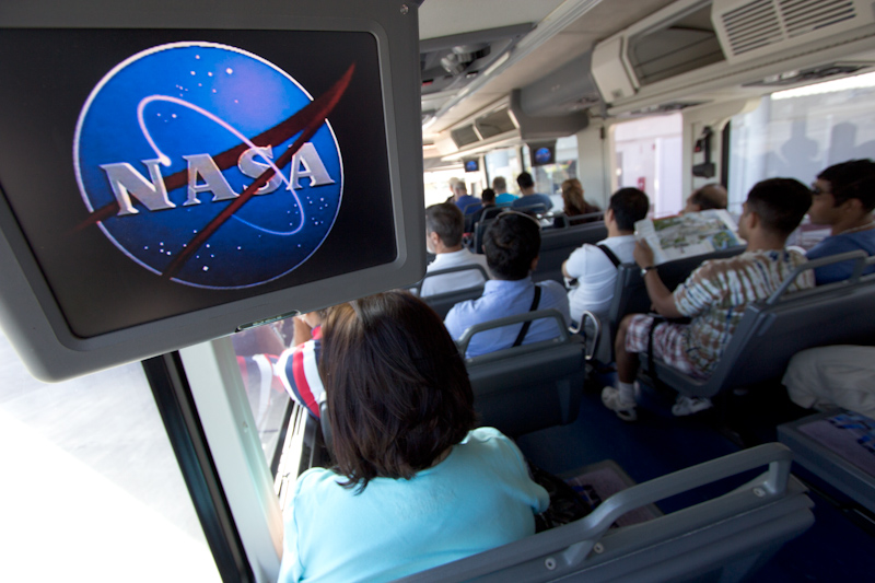 Kennedy Space Center: Next: a bus tour around the launch pads and Vehicle Assembly Building.