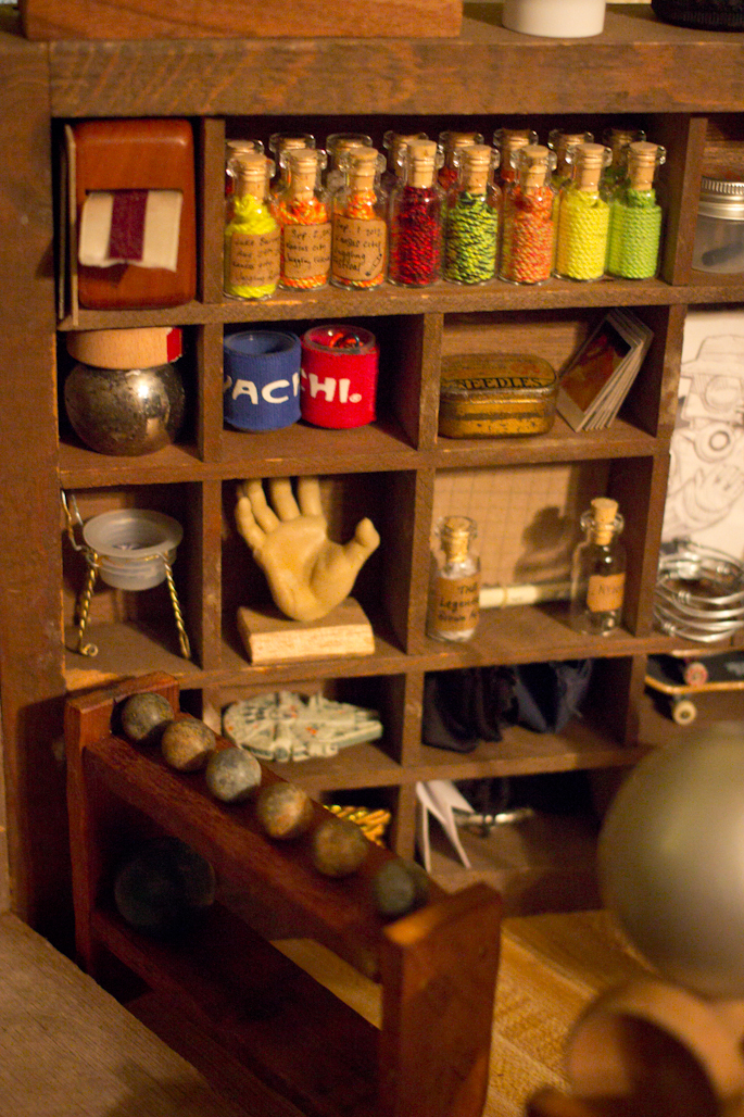 Just Colcord's Apartment: A miniature cabinet of curiosities inside a curiosity cabinet.