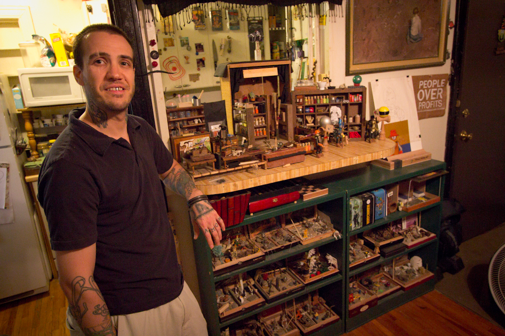 Just Colcord's Apartment: Not only has Just been making toys, but also many, many sets for his stop motion movies.