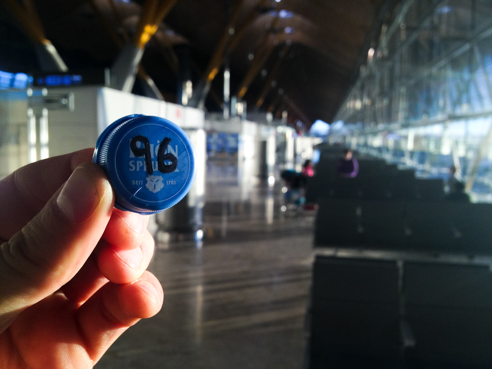 Currency of the Future: Madrid Airport, Spain, December 2013.