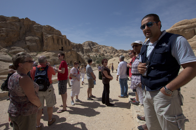Petra, Jordan: On the right, our tour guide.