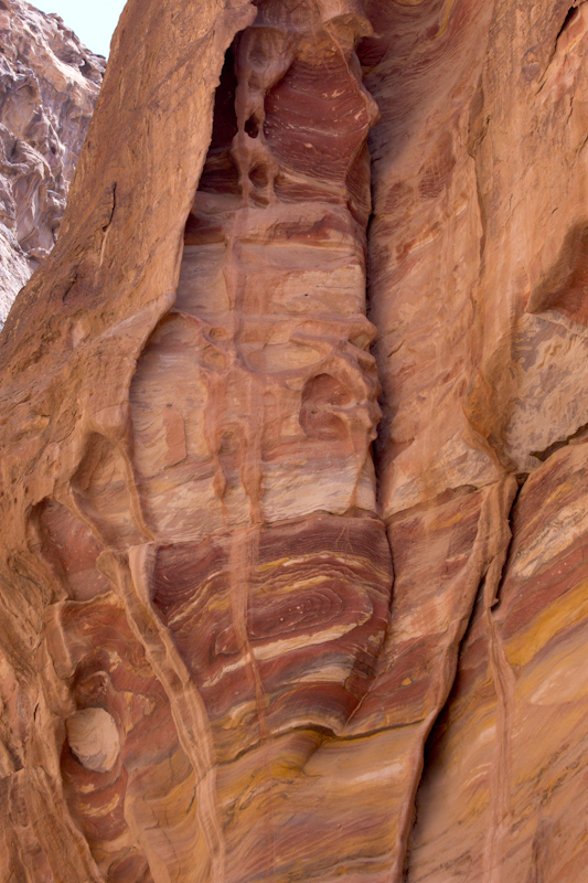 Petra, Jordan: Water-eroded rock.