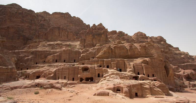 Petra, Jordan: The facades.
