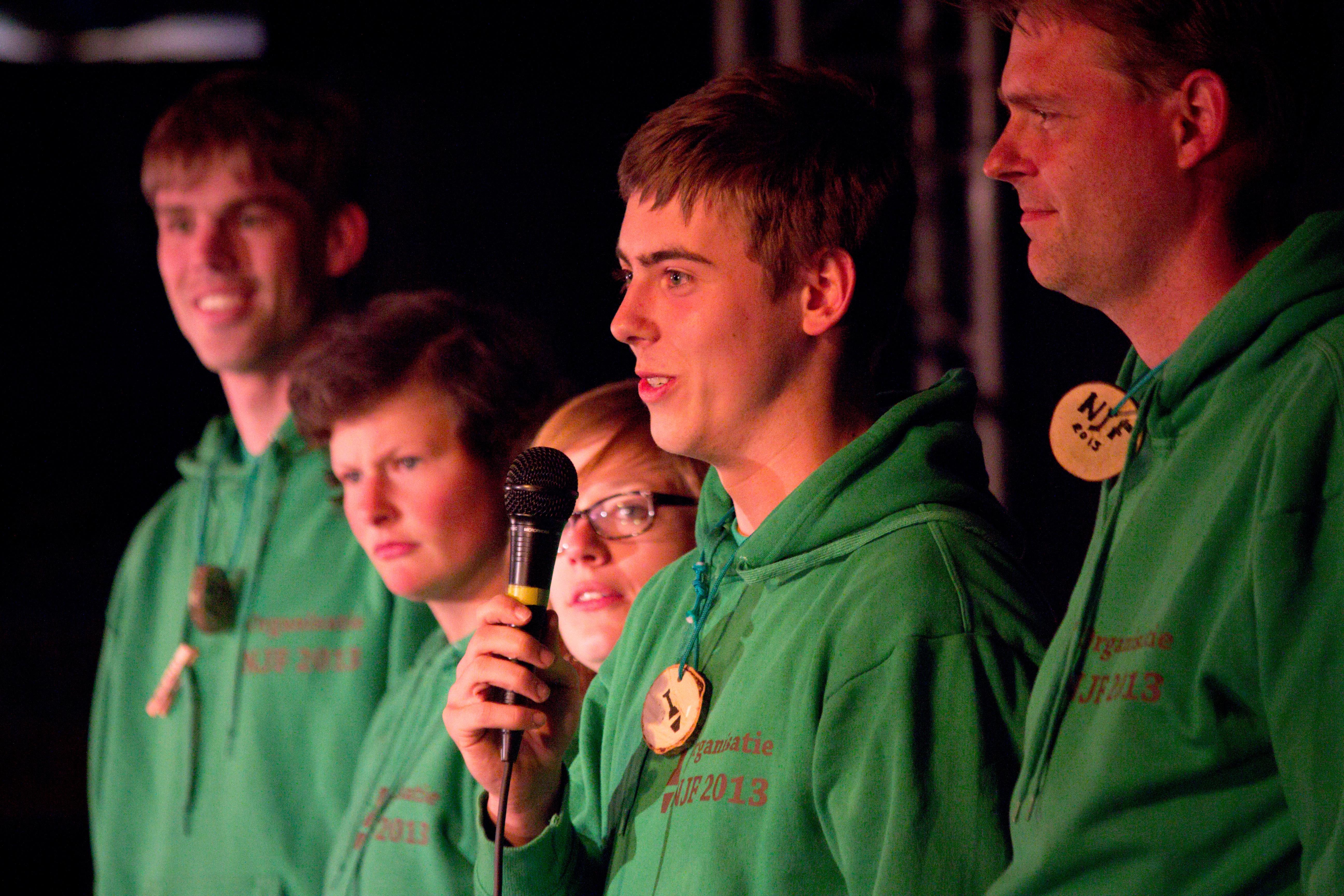 Nederlands Jongleer Festival 2013: The festival organizers.