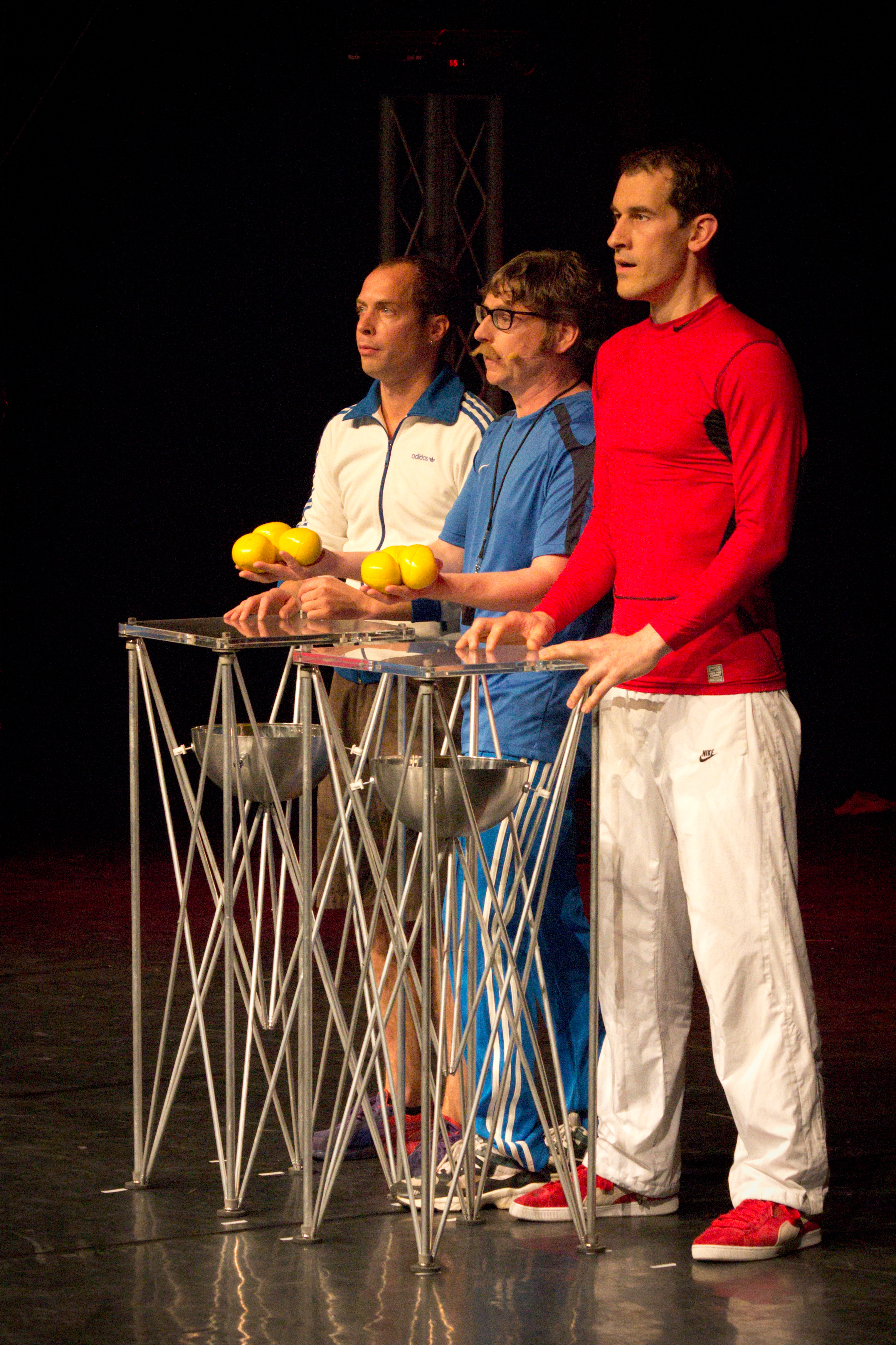 Berlin Juggling Convention 2013 Gala Show: Florian, Jochen and Günter.