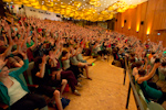 Berlin Juggling Convention 2013 Gala Show: The audience applauding.