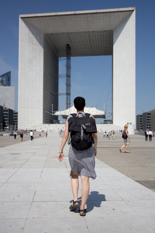 Luke and Juliane Summer Tour part 1: A day in Paris: La Defense.