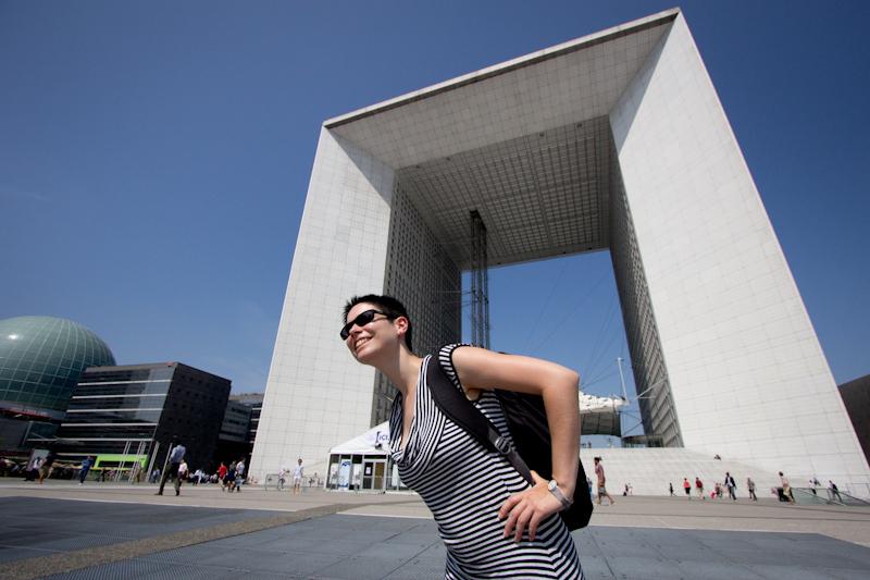 Luke and Juliane Summer Tour part 1: A day in Paris: La Defense.