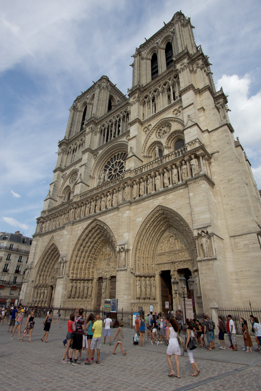 Luke and Juliane Summer Tour part 1: A day in Paris. Notre-Dame de Paris.