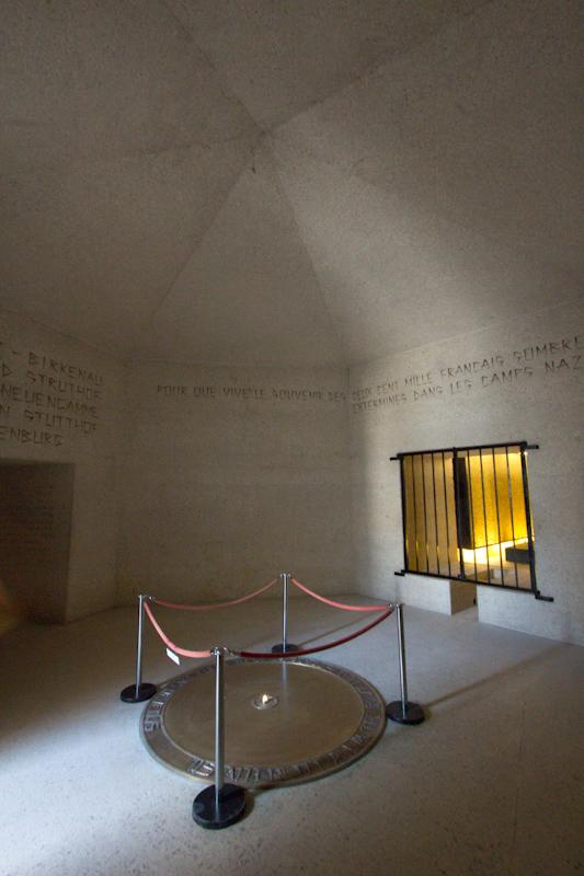 Luke and Juliane Summer Tour part 1: A day in Paris. Mémorial des Martyrs de la Déportation.