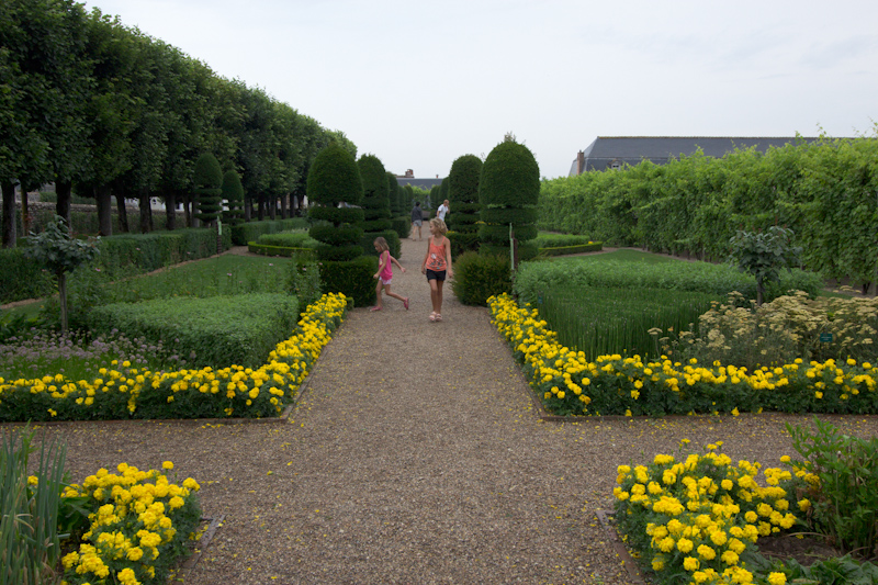 Luke and Juliane Summer Tour part 2 - Castles in the Loire Valley, Dune de Pyla and Condom: Villandry. The herb garden.
