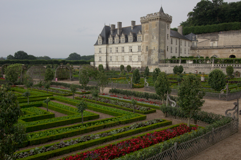 Luke and Juliane Summer Tour part 2 - Castles in the Loire Valley, Dune de Pyla and Condom: Villandry. The vegetable garden.
