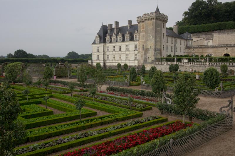 Luke and Juliane Summer Tour part 2 - Castles in the Loire Valley, Dune de Pyla and Condom: Villandry. The vegetable garden.