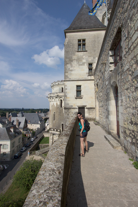 Luke and Juliane Summer Tour part 2 - Castles in the Loire Valley, Dune de Pyla and Condom: Amboise Chateau Royal. Tour of dungeons and towers.