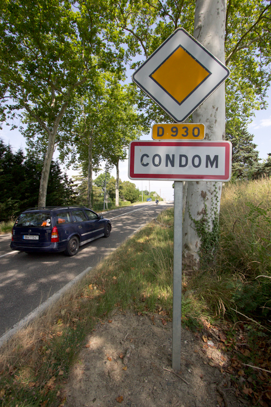 Luke and Juliane Summer Tour part 2 - Castles in the Loire Valley, Dune de Pyla and Condom: Condom. We picked a place to stay for the night purely because of the funny name.