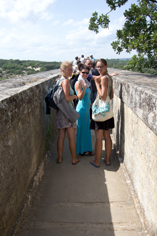 Luke and Juliane Summer Tour part 3 - Pont du Gard, Avignon, Arles, Senanque Abbey, Gordes: A tour through the top level of Pont du Gard.