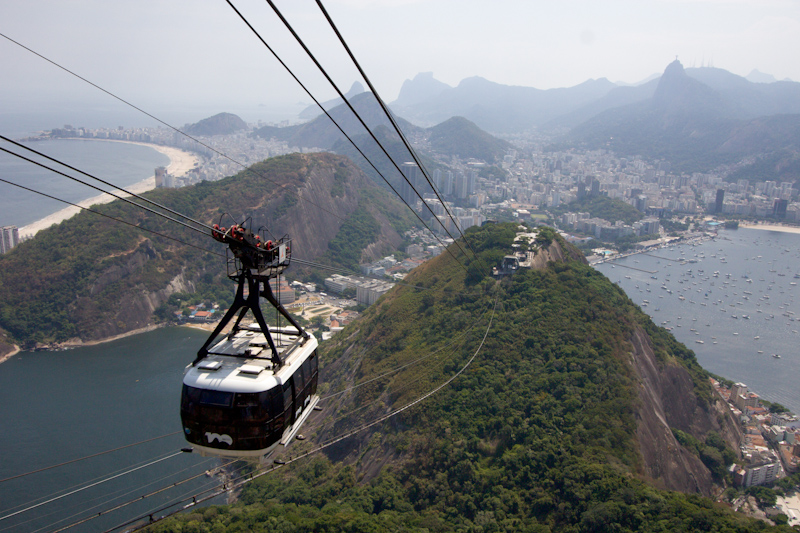 Rio de Janeiro, Brazil: View from the Sugarloaf Mountain.