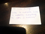 EJC 2014 Millstreet: A message I received via the BJC Secret Post Box service.