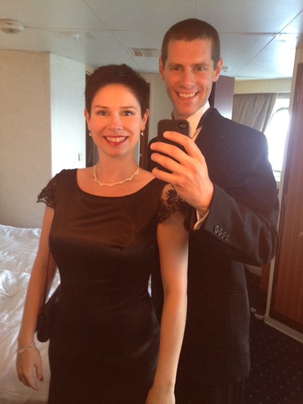 September Cruise on the Prinsendam: Formal night on the cruise.