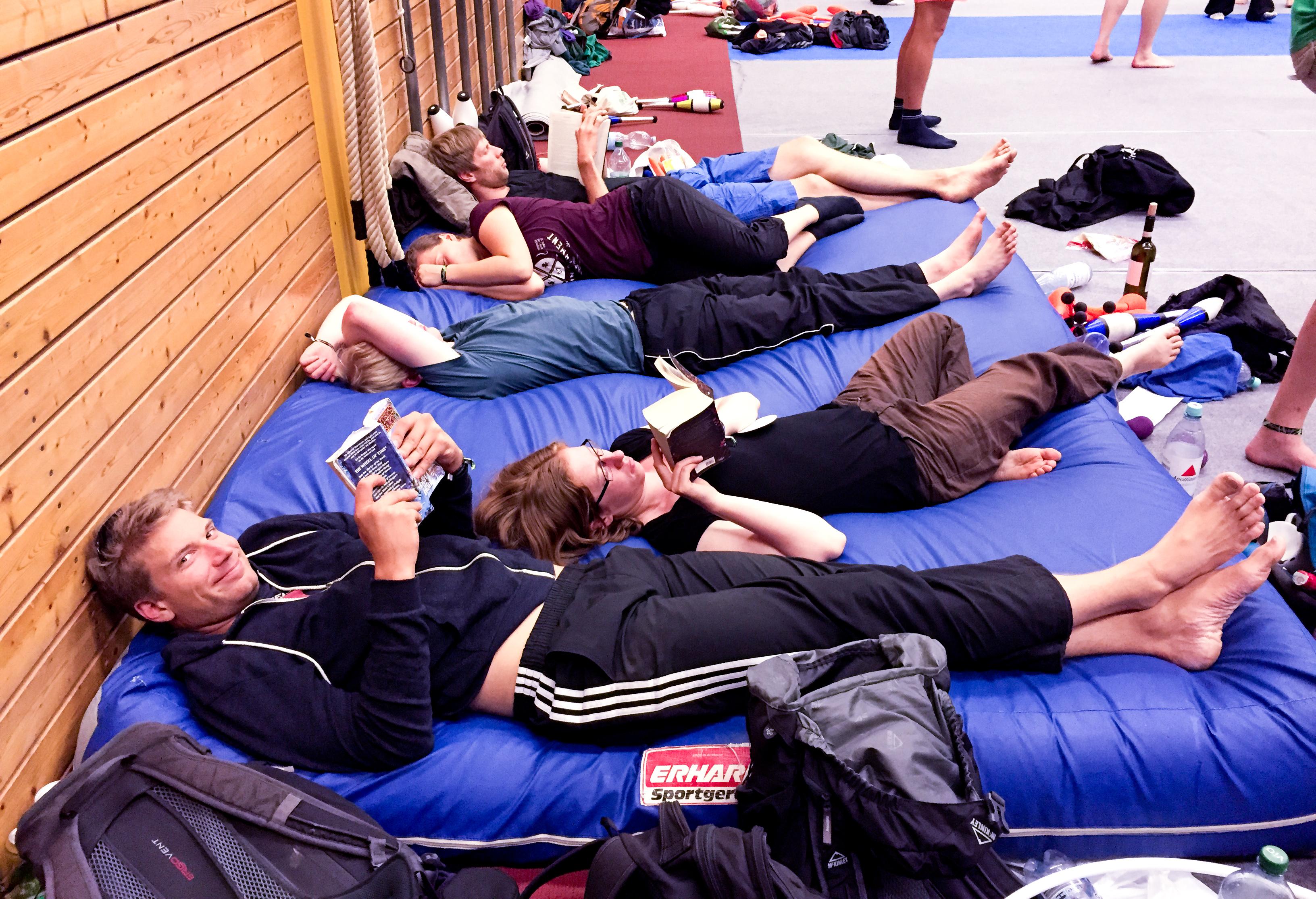 EJC 2015 Bruneck - Sunday August 2nd: Gym 3 Book Club.