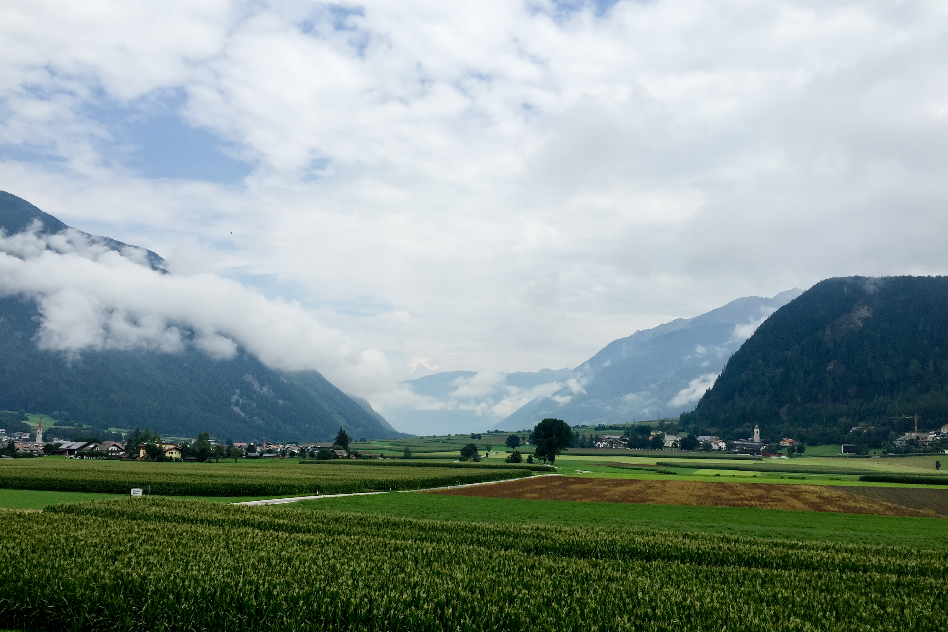 EJC 2015 Bruneck - Saturday August 8th: Another view from our bedroom window, this time with dramatic clouds.