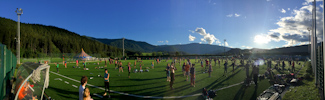 EJC 2015 Bruneck - Sunday August 2nd: Soccer field panorama.