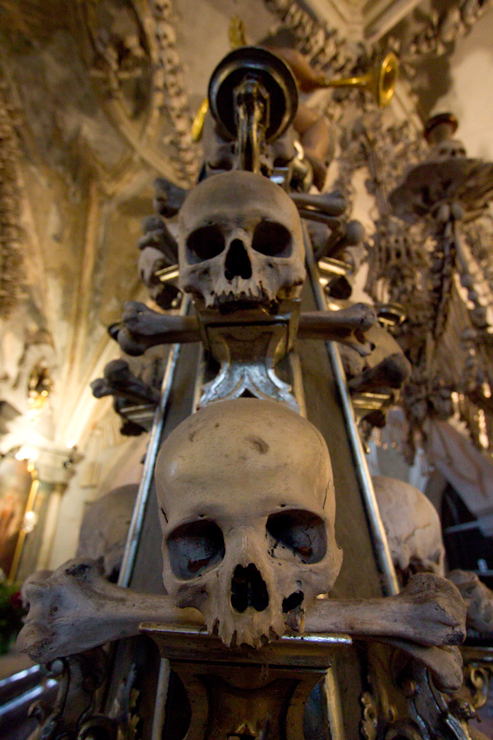 99 Random Photos I Forgot to Share Since October 2014: Sedlac Bone Ossuary.