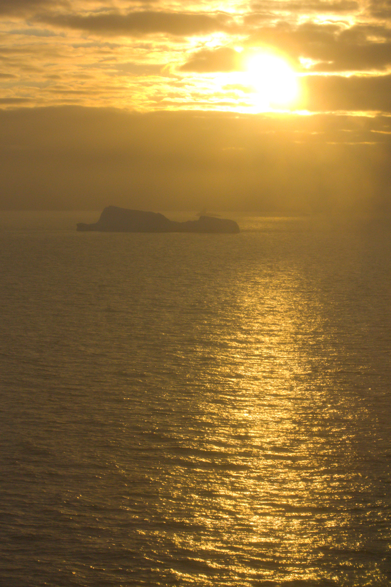 January 2016 Antarctica and Falklands: Sunset in Antarctica