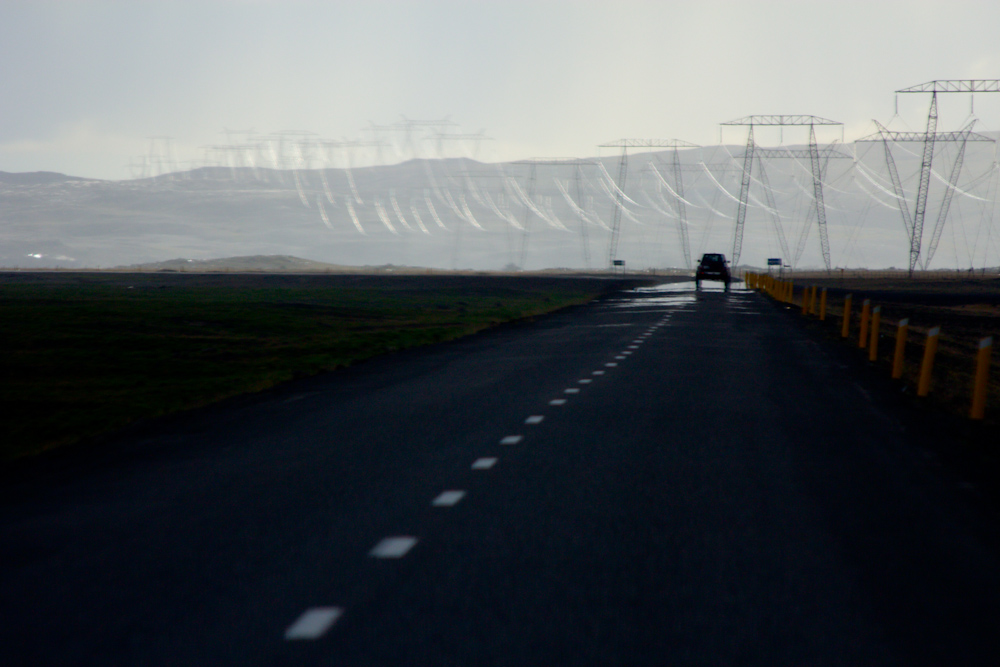 Iceland Adventure with Juliane and Luke: Road and power lines