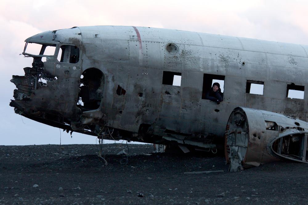 Iceland Adventure with Juliane and Luke: Crashed DC3