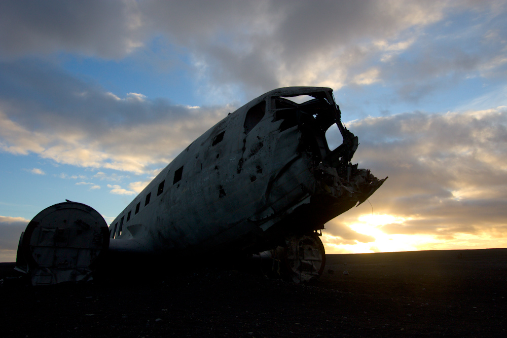 Iceland Adventure with Juliane and Luke: Crashed DC3