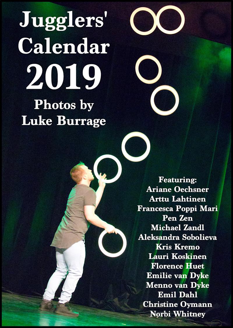 Jugglers' Calendar 2019: Photos by Luke Burrage