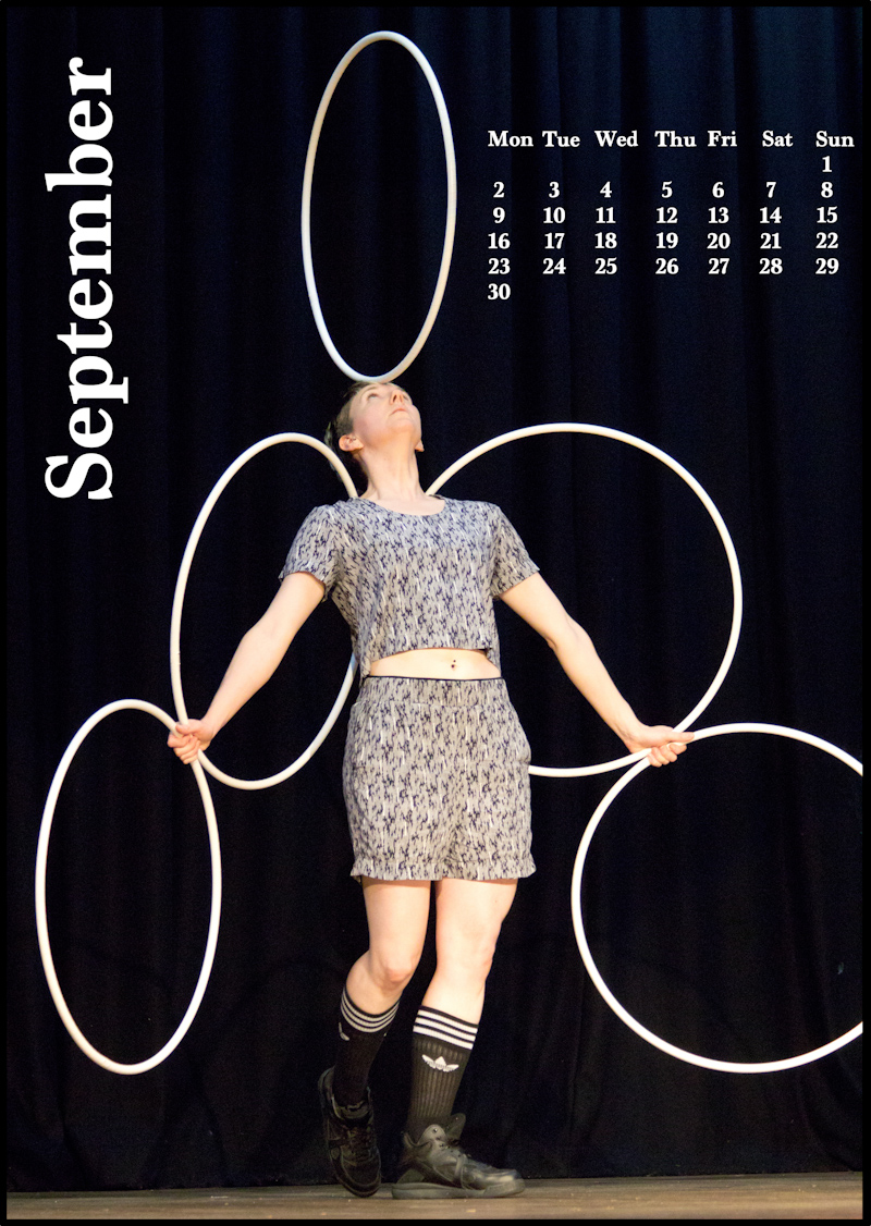 Jugglers' Calendar 2019: Photos by Luke Burrage