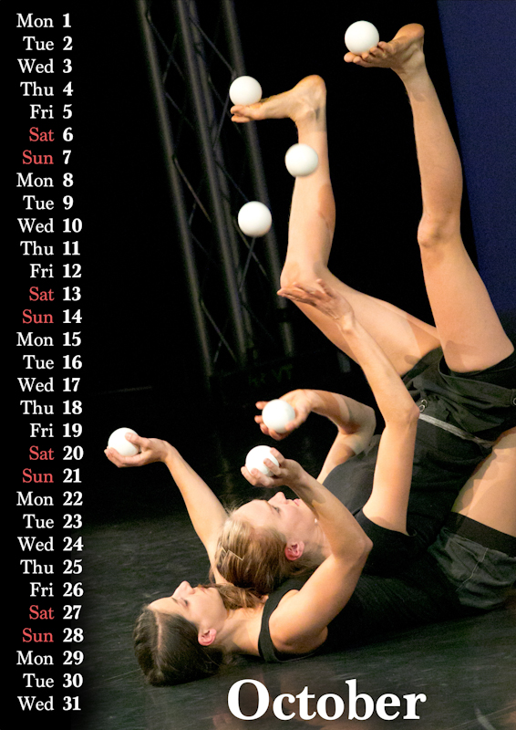 Jugglers' Calendar 2018 by Luke Burrage and Juliane Kunzendorf: no description