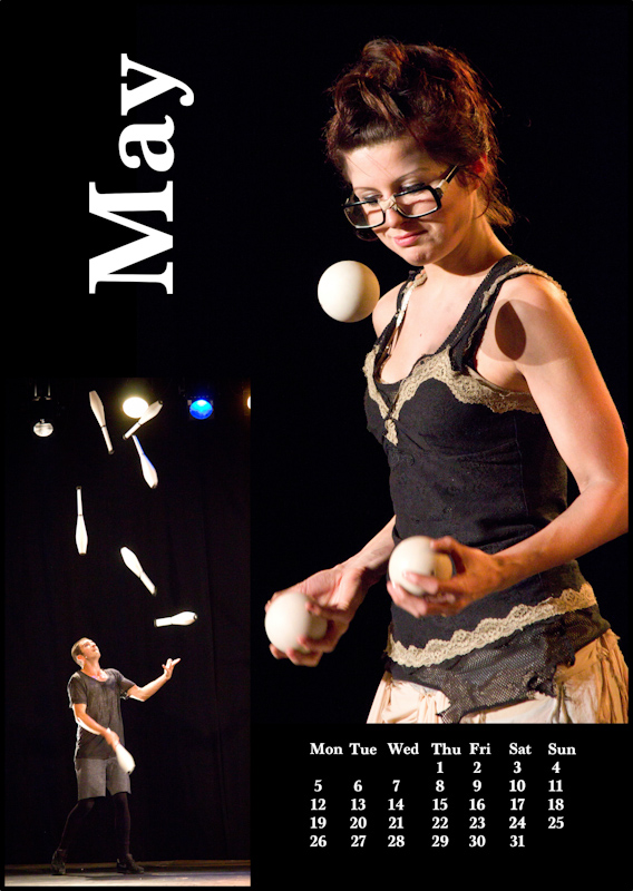 Jugglers' Calendar 2014 - photos by Luke Burrage: May