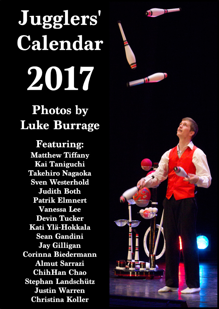 Jugglers' Calendar 2017 by Luke Burrage: no description