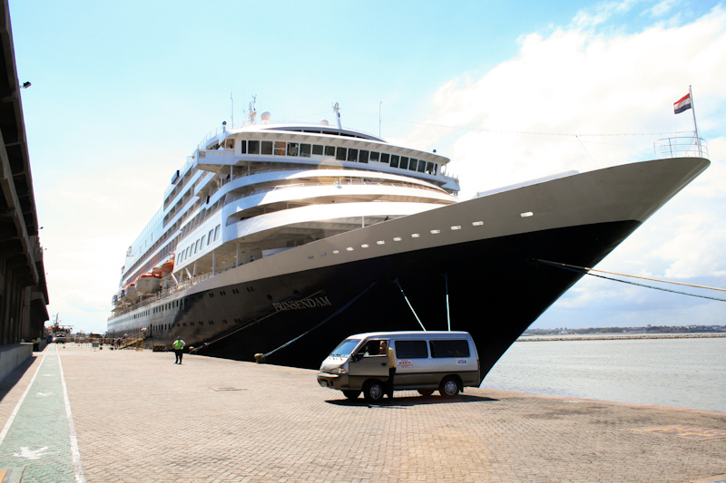 The Prinsendam: My first cruise on the Prinsendam began in Montevideo, Uruguay. We sailed up the coast of Brazil to Rio de Janeiro, Salvador and Recife.